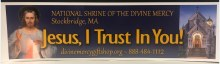 NATIONAL SHRINE OF THE DIVINE MERCY BUMPER STICKER