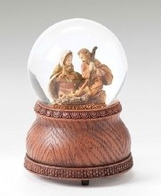 NATIVITY MUSICAL GLITTER SNOWGLOBE