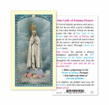 OUR LADY OF FATIMA 100TH ANNIVERSARY PRAYER CARD