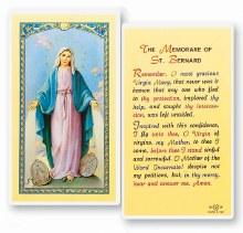 OUR LADY OF GRACE MEMORARE PRAYERCARD