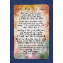 ONE DAY AT A TIME PRAYER CARD