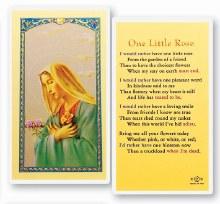 ONE LITTLE ROSE PRAYER CARD