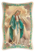 OUR LADY OF GRACE GOLD STAMPED PLAQUE