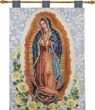 OUR LADY OF GUADALUPE 26X36 TAPESTRY WALL HANGING