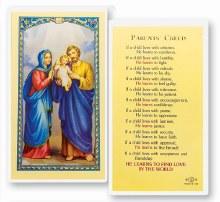 PARENTS CREED PRAYER CARD