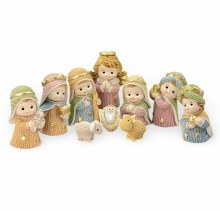 RESIN YARN NATIVITY SET