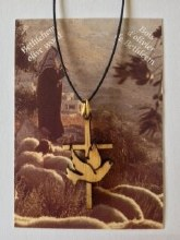 CROSS AND DOVE PENDANT