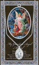 GENUINE PEWTER GUARDIAN ANGEL MEDAL