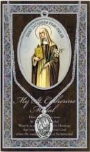 GENUINE PEWTER ST CATHERINE MEDAL