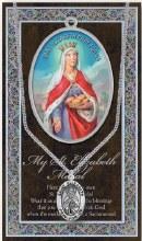 GENUINE PEWTER ST ELIZABETH MEDAL