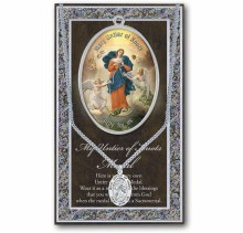 GENUINE PEWTER OUR LADY UNTIER OF KNOTS MEDAL