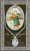 GENUINE PEWTER ST CHRISTOPHER MEDAL
