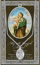 GENUINE PEWTER ST JOSEPH MEDAL