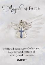 PIN ANGEL OF FAITH ZINC