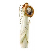 MEMORIAL ANGEL WITH PHOTO INSERT