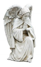 GARDEN PRAYING ANGEL STATUE
