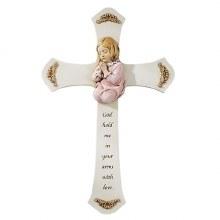 """PRAYING GIRL CROSS 8.25"""""""