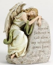 RECLINING ANGEL MEMORIAL STATUE