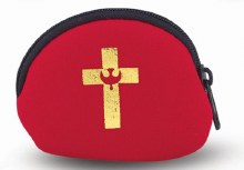RED ROSARY POUCH