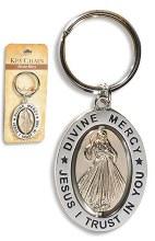 REVOLVING DIVINE MERCY KEYRING