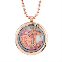 ROSE GOLD LOCKET NECKLACE