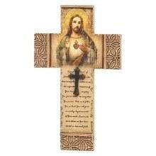 SACRED HEART OF JESUS WALL CROSS
