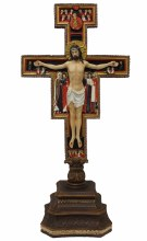 SAN DAMIANO STANDING CRUCIFIX FULL COLOR
