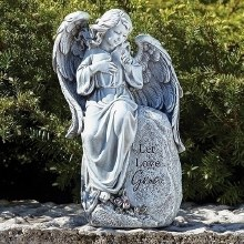 SEATED ANGEL STATUE