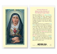 NOVENA PRAYER IN HONOR OF THE SORROWS OF THE BLESSED VIRGIN MARY