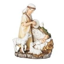 SHEPARD WITH BABY JESUS & LAMB