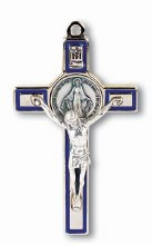SILVER MIRACULOUS MEDAL CRUCIFIX