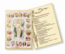 SPANISH MYSTERIES OF THE ROSARY MOSAIC PLAQUE