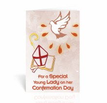 HOLY SPIRIT WITH STAFF MITRE CONFIRMATION CARD
