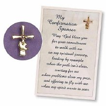 GOLD CONFIRMATION SPONSOR CROSS/DOVE PIN