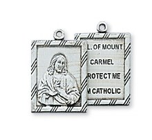 """SS 2PC SCAPULAR MEDAL 18"""" CHAIN"""