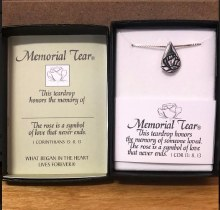 SS MEMORIAL TEAR PENDANT