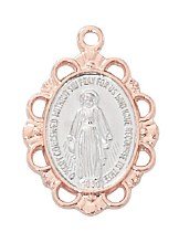 ROSE GOLD SS MIRACULOUS MEDAL