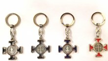 ST BENEDICT KEY CHAIN ASSORTED COLORS
