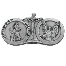 ST CHRISTOPHER & GAURDIAN ANGEL VISOR CLIP
