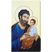 ST JOSEPH AND THE CHILD JESUS CANVAS PRINT, GALLERY WRAP