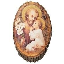ST JOSEPH AND CHILD PLAQUE