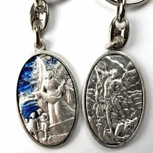 ST MICHAEL & GUARDIAN ANGEL KEY CHAIN