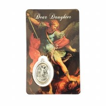 ST MICHAEL PRAYER CARD WITH MEDAL - DEAR DAUGHTER