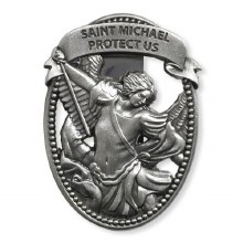 ST MICHAEL PROTECT US VISOR CLIP