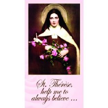 ST THERESE OF LISIEUX PAPER PRAYERCARD