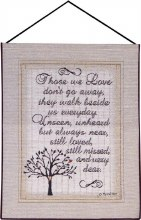 THOSE WE LOVE TAPESTRY BANNERETTE