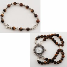 TIGER EYE ROSARY WATCH SET