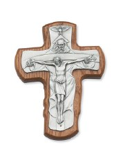 TRINITY WALNUT CRUCIFIX 5 1/2""