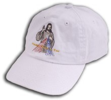 Divine Mercy Embroidered Hat - White