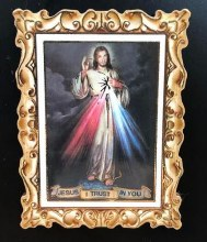 DIVINE MERCY SMALL WOOD MAGNET